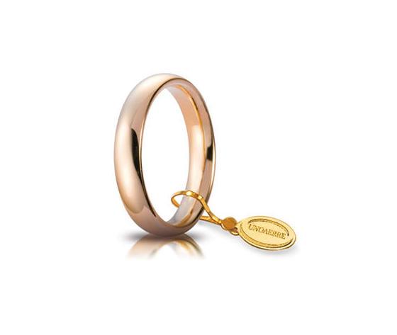 Fede Matrimoniale Unoaerre Comoda 4 mm. Oro Rosa