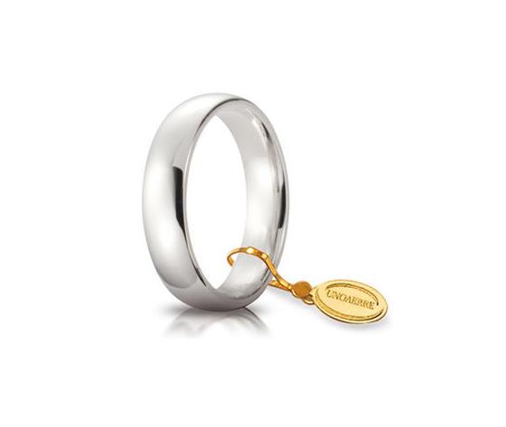 Fede Matrimoniale Unoaerre Comoda 5 mm. Oro Bianco