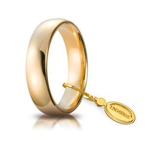 Fede Matrimoniale Unoaerre Comoda 5 mm. Oro Giallo