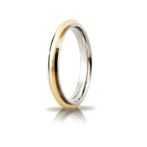 Fede Matrimoniale Unoaerre  Andromeda Slim Bicolore