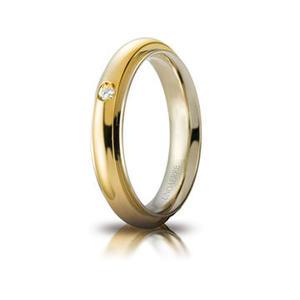 Fede Matrimoniale Unoaerre  Andromeda Bicolore con diamante