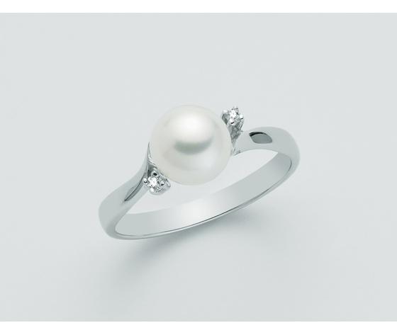 Anello  Yukiko Perla e Diamanti