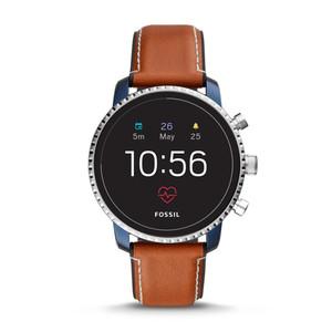 Smartwatch Gen 4 - Q Explorist HR con cinturino in pelle marrone