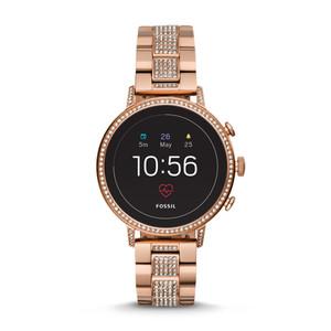 Smartwatch Gen 4 - Q Venture HR in acciaio tonalità oro rosa e zirconi