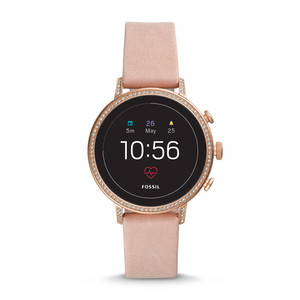 Smartwatch Gen 4 - Q Venture HR con cinturino pelle rosa e zirconi