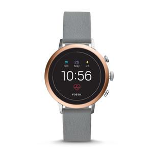 Smartwatch Gen 4 - Q Venture HR con cinturino grigio in pelle
