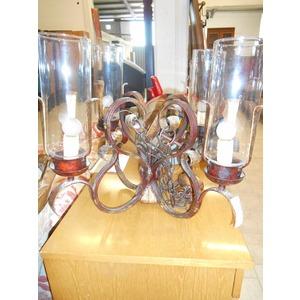 Lampadario bronzato 4 luci