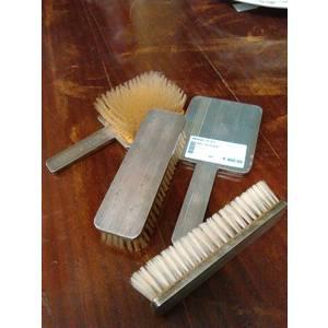 Set spazzole e specchio argento
