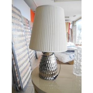 Lampada da tavolo base argentata