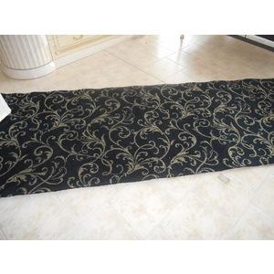 Moquette in lana nera/bianca rettangolare