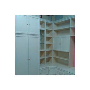 Mobile sala angolare laccato bianco