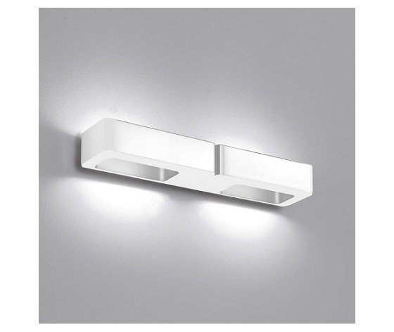 Icone lingotto 2 led wandleuchte b 38 h 45 t 85 cm weiss  ico lingotto2led bi 0