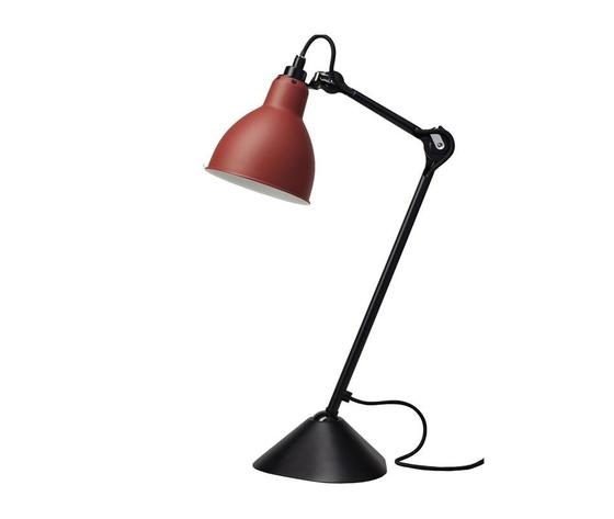 Lampe gras 205 table lamp black red round shade warehouse home