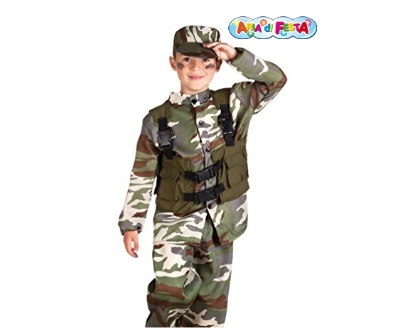 Costume carnevale soldato