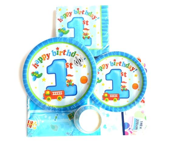 Kit 1%c2%b0 compleanno celeste