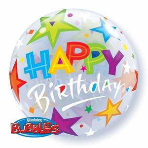 Pallone bubbles happy birthday
