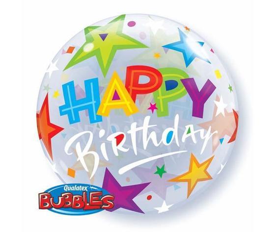 Pallone bubbles happy birthday