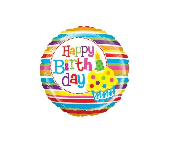 Pallone mylar happy birthday 53cm