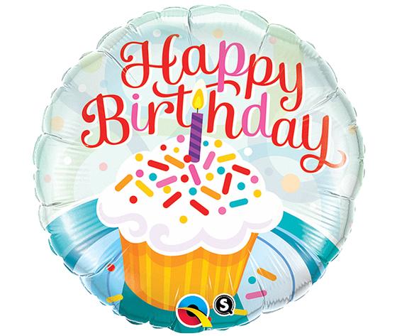 Pallone mylar happy birthday torta