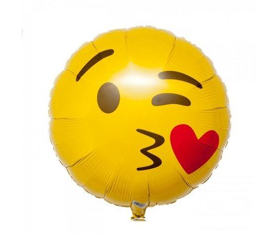 Pallone mylar smile bacio