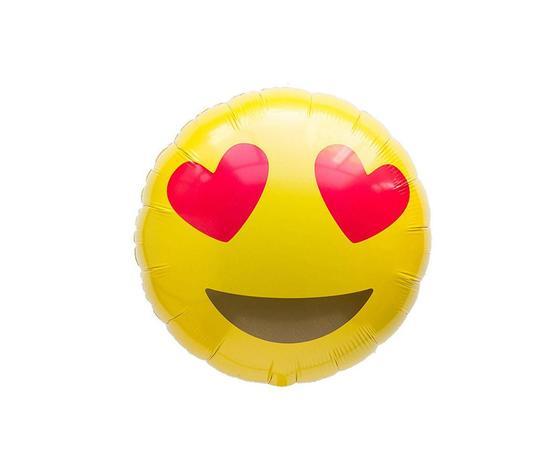 Pallone mylar smile cuoricini