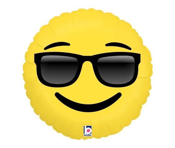 Pallone mylar smile occhiali