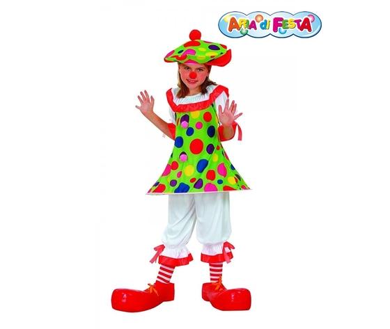 Costume carnevale monella clown