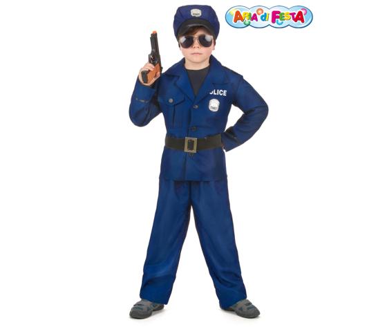 Costume carnevale poliziotto