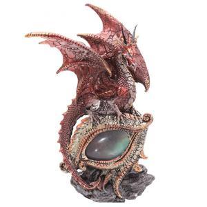 Drago rosso su occhio luminoso  h cm 21