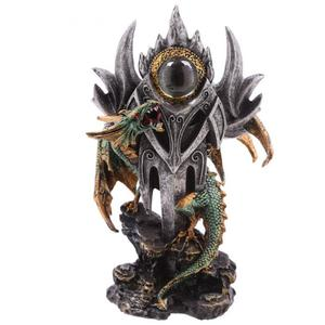 Drago verde con occhio sopra la lama cm 24