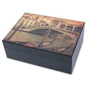 Humidor In Legno con Grafica Città D'Arte Venezia