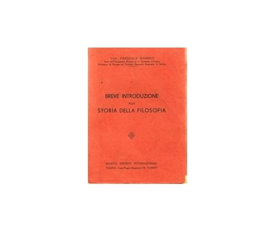 Breve introduzione alla storia della Filosofia - Can. Pasquale Naddeo