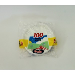 Piatti piani plastica bianchi - 100 pz