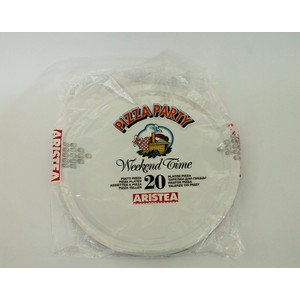 Piatti plastica pizza - 20 pz