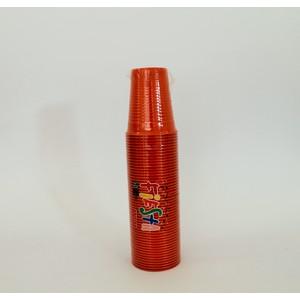 Bicchieri plastica colorati arancio 200 cc - 50 pz