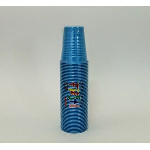 Bicchieri plastica colorati azzurro 200 cc - 50 pz