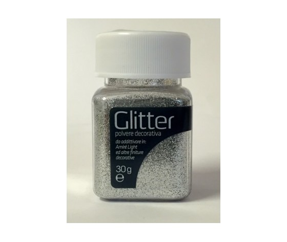 Glitter argento gr. 30