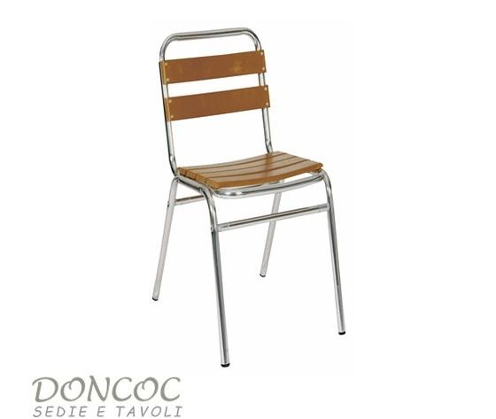 Tavoli E Sedie Alluminio Per Bar.Sedia Malaga Doncoc Sedie Per Bar Ristoranti E Strutture Ricettive