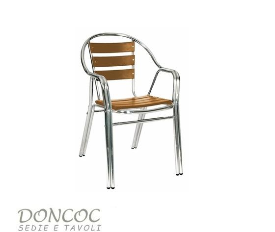Tavoli E Sedie Alluminio Per Bar.Sedia Alhambra Doncoc Sedie Per Bar Ristoranti E Strutture