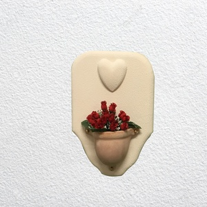 Quadro con ciottola verticale urna incorporata