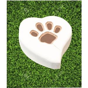 Tomba per animali - Cuore con impronta