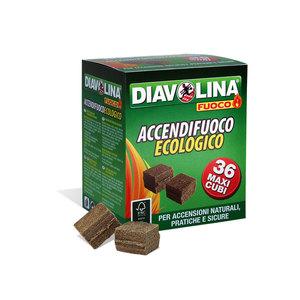 Diavolina Accendifuoco ecologico 36maxicubi