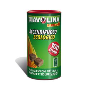 Diavolina Accendifuoco ecologico 100 cubi