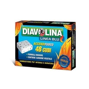 Diavolina linea blu Accendifuoco 48 cubi