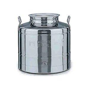 Fusto per olio in inox graffato lt. 10