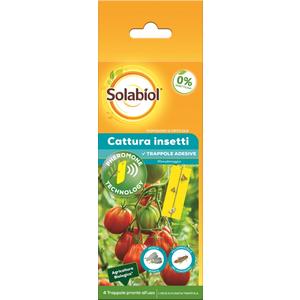 Solabiol Cattura insetti Pomodoro e orticole - 4 Trappole pronte all'uso