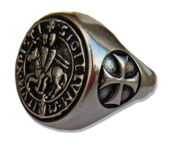 Anello Sigollo  Templare misura 19