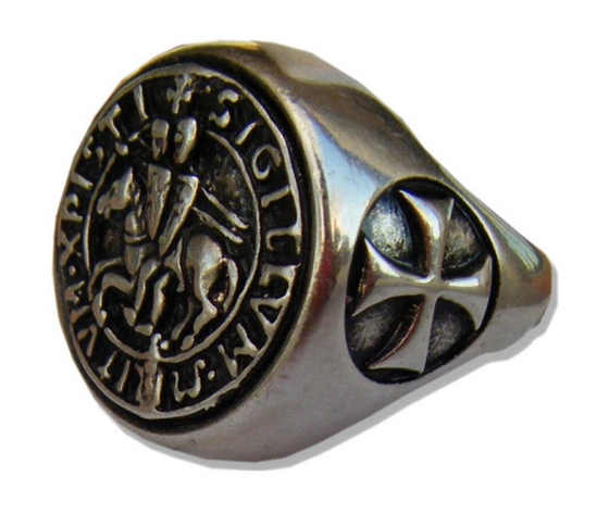Anello Sigillo Templare misura 21