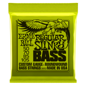 MUTA DI CORDE ERNIE BALL REGULAR SLINKY  NICKEL WOUND 2832 PER BASSO 50-105