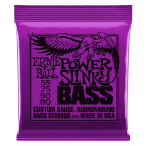 MUTA DI CORDE ERNIE BALL POWER SLINKY NICKEL WOUND 2831 PER BASSO 55-110